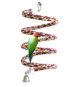 Petsvv 0.6-Inch by 43-Inch, Bird Perch, Rope Bungee Bird Toy