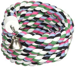 Happy Beaks Cotton Rope Boing With Bell Bird Toy