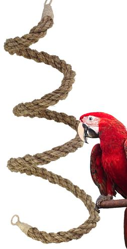 02067 Extra Large Abaca Rope Boing Bird Toy Cage Toys Cage A