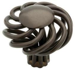"""1-1/2"""" Rubbed Bronze II Finish Birdcage Cabinet Hardware Kno"""