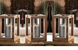 10 wholesale brown wood framework Candle holder Lantern wedd