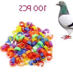100pcs Bird Rings Leg Bands for Pigeon P