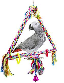 Bonka Bird Toys 1035 Medium Triangle Rope Swing Bird Toy Par