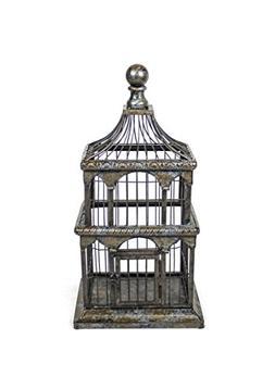 Sagebrook Home 10943 Metal Bird Cage, Black Metal, 10.5 x 8