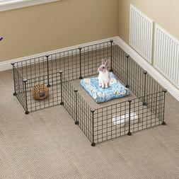 12 Panels Pet Playpen Indoor Small Animal Cage Rabbit Guinea