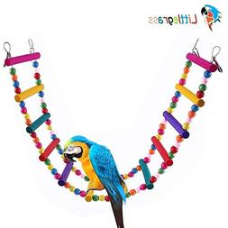 12 Steps Bird Toys 31 inch Wood Bird Ladder, Step Parrot Lad