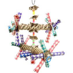 1241 DOUBLE HELIX BONKA BIRD TOY parrot cage toys cages cock