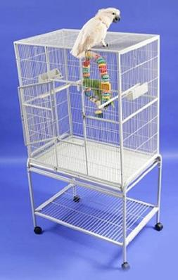 HQ 13221br Single Aviary Bird Cage - Brass