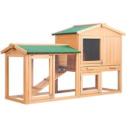 138cm Wide <font><b>Rabbit</b></font> Hutch Chicken Coop <fo