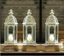 "14 lot White 16"" distressed Candle holder Lantern Lamp weddi"