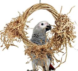 1461 Medium Willow Perch Swing Bird Toy Cage Parrot Toys Cag