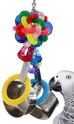 Bonka Bird Toys 1595 Pot Ring Parrot Cage Toy Cages African