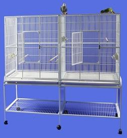 HQ 16421bk Side By Side Double Aviary- Black