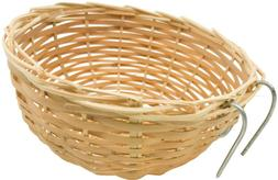 1687 Nest Natural Bamboo, Canary cages toys parrot parakeet