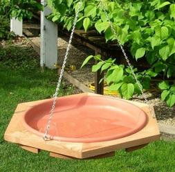 Looker Products 17 Hanging Classic Cedar Bird Bath with Remo