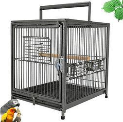 "18""x 14"" x 22"" Portable Heavy Duty Bird Cage Parrot Carrier"