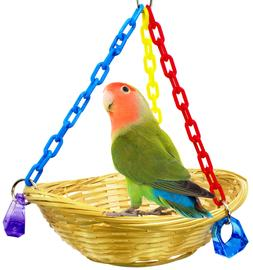 1914 Basket Swing Bonka Bird Toy cages toys parrot natural c
