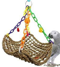 1958 Large Platform Swing Bird Toy parrot cage toys cages af