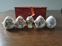 1set 5pcs Asian Bamboo Bird Cage Set Eight Immortals ceramic