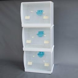 2 cages Stackable Canary Finch Breeding Bird Cage with Nest
