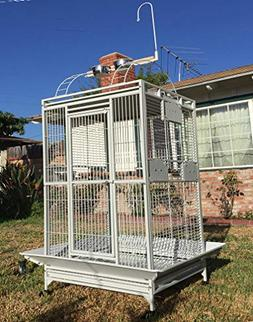 2 Color, New Large Double Ladder PlayTop Bird Cage Parrot Fi