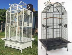 2 Color, New Large Open Dome PlayTop Wrought Iron Parrot Ama