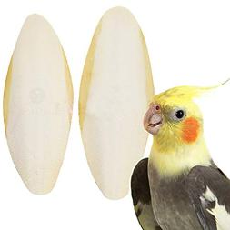 2 Cuttlefish Bones for Cockatiels - for Sharp Beaks, Healthy