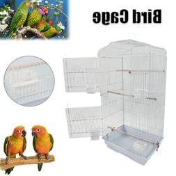 "2 Door Large 37"" Bird Parrot Cage Budgie Parakeet Finch Cana"