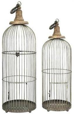 2-Pc Indoor Lenore Bird Cage Set