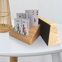 Uboo 2 set of Pine Wood Playing Card Holder/ Rack/ Organizer