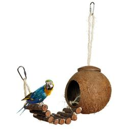 2 Type Cute Comfortable Design Natural Coconut Shell <font><