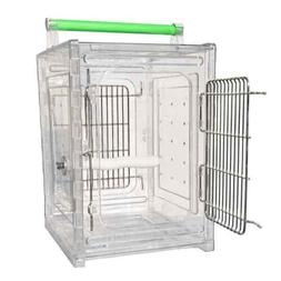 2101 Perch and Go Acrylic Travel Carrier bird cages toy toys