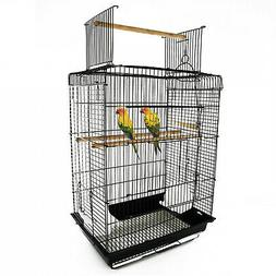 "22""H Small Parrot Bird Cage Open Top Playground Small Bird H"