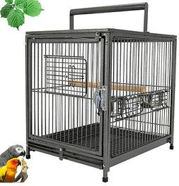 """22"""" Portable Heavy Duty Travel Bird Parrot Carrier Cage Fe"""