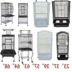 """23""""37"""" 57"""" 39"""" 63"""" 64"""" 68""""Small Large Bird Cage Play Parrot"""