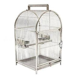 "25"" Dome Top Stainless Steel Travel Bird Cage S1W8"