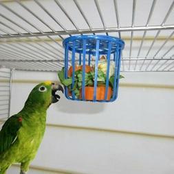 2pc Bird Parrot Feeder Cage Fruit Vegetable Holder Cage Hang