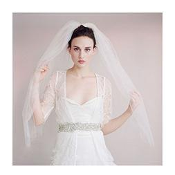 LiBridal 2T Short Wedding Veil Birdcage Bridal Veil with Com