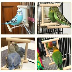 2x Bird Large Mirror Cage Perch Swing Toy for Medium Birds P