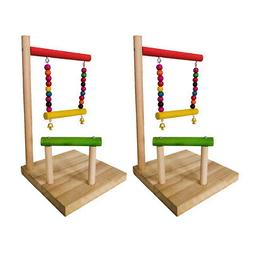 2x Birdcage Play Stands Playground For Parakeet Conure Cocka