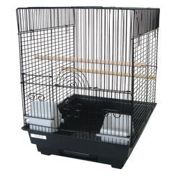 YML 3/8 in. Bar Spacing Flat Top Bird Cage White