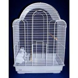 YML 3/8-Inch Bar Spacing Shell Top Bird Cage, White
