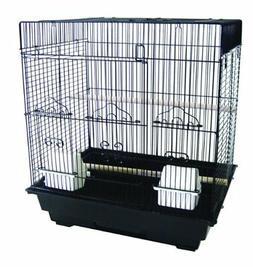 YML 3/8-Inch Bar Spacing SquareTop Small Bird Cage, 18-Inch