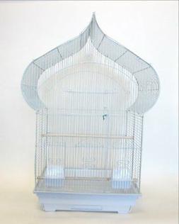 YML 3/8-Inch Bar Spacing Taj Mahal Bird Cage 18-Inch by 14-I