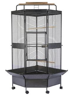 3 Color, NEW Large Corner Parrot Bird Wrought Iron Cage - r3