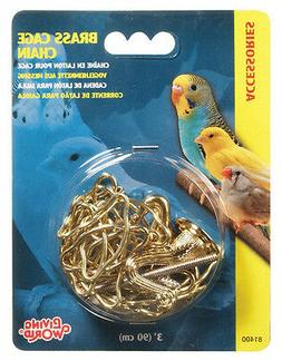 Bird Cage Chain for Hanging BRASS or CHROME Hagen Living World 3 Ft