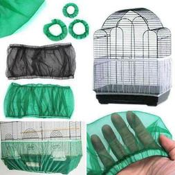 Nylon Mesh Pet Bird Cage Seed Catcher Tidy Guard Cover Shell