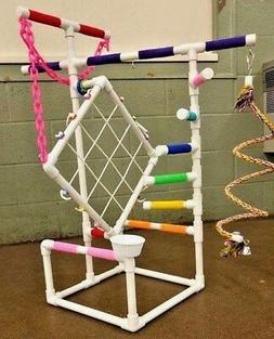"3' Tall Climber 1/2"" PVC Parrot Perch  Stand  Play Gym   **F"