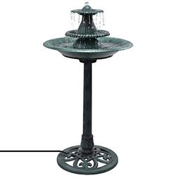 Giantex 3 Tier Fountain Garden Outdoor Decor Pedestal Bird B