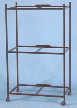 "3-Shelves Stand for 30"" x 18 x 18""H Cages, Black"